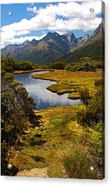 Acrylic Print featuring the photograph New Zealand Alpine Landscape by Cascade Colors