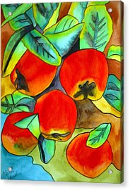 New Zealand Apples Acrylic Print by Sacha Grossel