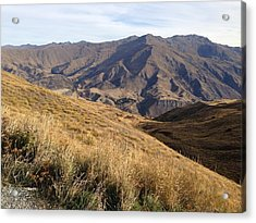 New Zealand Mountains Acrylic Print by Ron Torborg