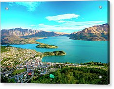 New Zealand, South Island, View Towards Acrylic Print by Miva Stock