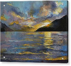 New Zealand Sunset Acrylic Print by Michael Creese