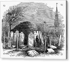 Newark Cemetery, 1876 Acrylic Print by Granger