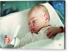 Newborn Boy. First Day Acrylic Print by Aleksandr Morozov