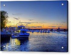 Newburyport Harbor Marina Acrylic Print