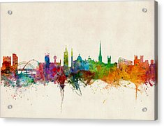 Newcastle England Skyline Acrylic Print by Michael Tompsett