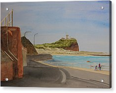 Acrylic Print featuring the painting Newcastle Nsw Australia by Tim Mullaney
