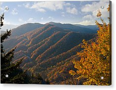 Newfound Gap Acrylic Print by Melinda Fawver