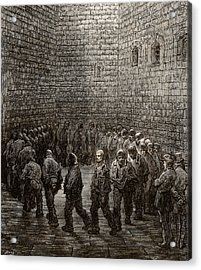 Newgate Prison Exercise Yard Acrylic Print by Gustave Dore