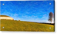 Newgrange - Ancient Observatory In Ireland Acrylic Print by Mark E Tisdale