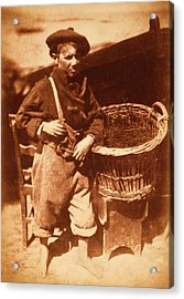 Newhaven Fisherboy Acrylic Print by Library Of Congress
