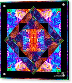 Newly Formed Bliss Mandala Artwork Acrylic Print by Omaste Witkowski