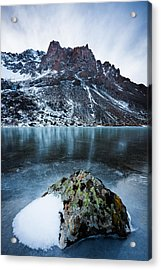 Frozen Mountain Lake Acrylic Print