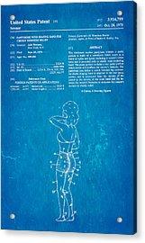 Newmar Pantyhose Patent Art 1975 Blueprint Acrylic Print by Ian Monk