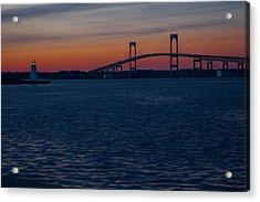 Newport At Sunset Acrylic Print by Robert  Torkomian
