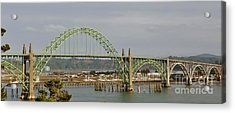 Acrylic Print featuring the photograph Newport Bay Bridge by Susan Garren