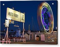 Newport Beach Auto Ferry Acrylic Print by Eddie Yerkish