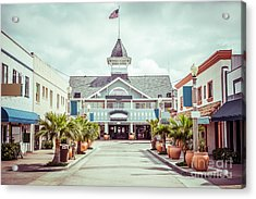 Newport Beach Balboa Main Street Vintage Picture Acrylic Print by Paul Velgos