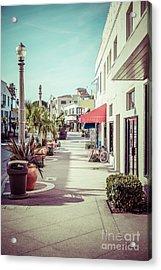 Newport Beach Main Street Balboa Peninsula Picture Acrylic Print by Paul Velgos