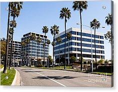 Newport Beach Office Buildings Orange County California Acrylic Print by Paul Velgos