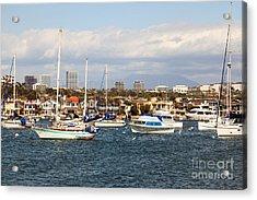Newport Beach Skyline In Orange County California Acrylic Print by Paul Velgos