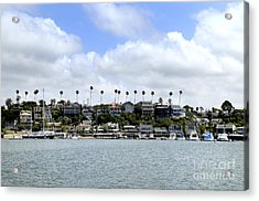 Newport Beach  Acrylic Print by Timothy OLeary