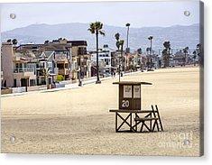Newport Beach Waterfront Luxury Homes Acrylic Print by Paul Velgos