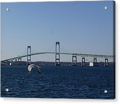 Newport Bridge Acrylic Print