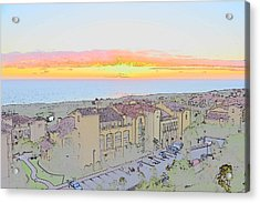 Acrylic Print featuring the photograph Newport Coast Sunset by Penny Lisowski