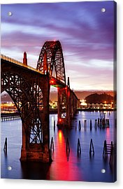 Newport Dawn Acrylic Print by Darren  White