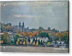 Newport In Autumn Acrylic Print by Deborah Benoit