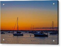 Newport Ri Sunset Acrylic Print by Sean Mackie
