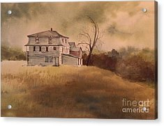Acrylic Print featuring the painting Newport Vermont by Joy Nichols