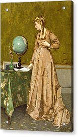 News From Afar Acrylic Print by Alfred Emile Stevens
