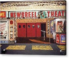 Newsreel Theatre Acrylic Print by Paul Guyer