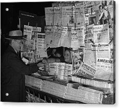 Newsstand, 1941 Acrylic Print by Granger