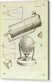 Newton On Telescopes Acrylic Print