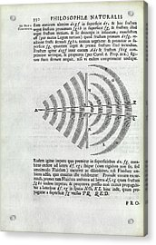 Newton On Wave Theory Acrylic Print by Royal Institution Of Great Britain