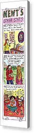 Newt's Other Stats Acrylic Print by Roz Chast