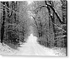 Next Stop In Winter Acrylic Print