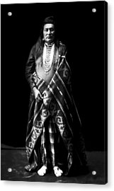 Nez Perce Indian Circa 1899 Acrylic Print by Aged Pixel