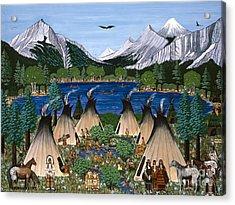 Nez Perce Wallowa Lake Acrylic Print by Jennifer Lake