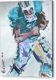 Nfl Football Painting Acrylic Print