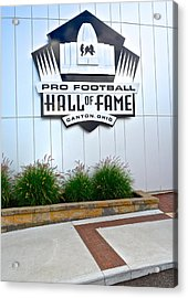 Nfl Hall Of Fame Acrylic Print by Frozen in Time Fine Art Photography