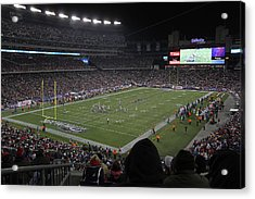 Nfl Patriots And Tom Brady Showtime Acrylic Print by Juergen Roth