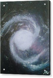 Ngc 1365. Barred Spiral Galaxy With Relativistic Jet Acrylic Print by Nicla Rossini