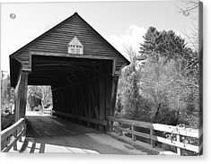 Nh Covered Bridge Acrylic Print