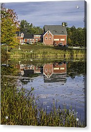 Acrylic Print featuring the photograph Nh Farm Reflection by Betty Denise