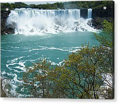 Niagara - American Falls In Spring Acrylic Print by Phil Banks