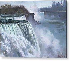 Niagara American Falls Acrylic Print by Ylli Haruni