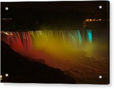 Acrylic Print featuring the photograph Niagara Falls A Glow by Dave Files